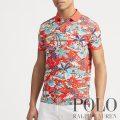 ポロラルフローレン : Custom Slim Fit Mesh Polo [ややスリム/ハワイアン/半袖ポロシャツ]
