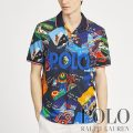 ポロラルフローレン : Classic Fit Print Mesh Polo [ゆったり/ポスターグラフィック/POLO/半袖ポロシャツ]