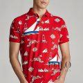 ポロラルフローレン : Classic Fit Nautical Mesh Polo [ゆったり/マリンプリント/半袖ポロシャツ]