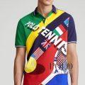 ポロラルフローレン : Classic Fit Tennis Mesh Polo [ゆったり/テニスプリント/半袖ポロシャツ]