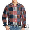 ポロラルフローレン : Patchwork Plaid Oxford Shirt [ゆったりフィット/オックスフォード/パッチワーク/長袖シャツ]