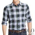ポロラルフローレン : Standard Fit Linen Shirt [ゆったり/軽量リネン/ウエスタン/長袖シャツ]