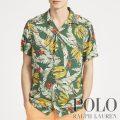 ポロラルフローレン : Classic Fit Banana-Print Shirt [ゆったり/軽量/トロピカルバナナ/開襟/半袖シャツ]