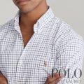 ポロラルフローレン : Slim Fit Tattersall Shirt [スリム/ストレッチ/オックスフォード/チェック/長袖シャツ]