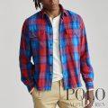 ポロラルフローレン : Custom Fit Plaid Twill Shirt [ややスリム/コットンツイル/チェック/長袖シャツ]