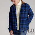 ポロラルフローレン : Classic Fit Plaid Workshirt [ゆったり/ウールナイロン/チェック/オーバーシャツ]