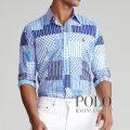 ポロラルフローレン : Classic Fit Patchwork Shirt [ゆったり/ネクタイパッチワーク/長袖シャツ]