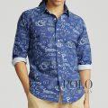 ポロラルフローレン : Classic Fit Oxford Shirt [ゆったり/オックス/カレッジスポーツプリント/長袖シャツ]