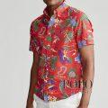 ポロラルフローレン : Classic Fit Seersucker Shirt [ゆったり/軽量シアサッカー/ハワイアントロピカル/半袖シャツ]