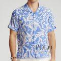 ポロラルフローレン : Classic Fit Tropical Shirt [ゆったり/軽量リネン/トロピカルフィッシュ/半袖シャツ]