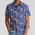 ポロラルフローレン : Classic Fit Tropical Shirt [ゆったり/オックス/トロピカルフラミンゴ/半袖シャツ]