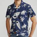 ポロラルフローレン : Classic Fit Tropical Shirt [ゆったり/コットン/サンゴフィッシュ/半袖シャツ]