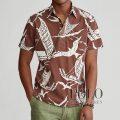 ポロラルフローレン : Kon-Tiki Popover Shirt [ゆったり/コットン/船&海鳥/プルオーバー/半袖シャツ]