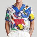 ポロラルフローレン : The Nautical Racing Camp Shirt [ゆったり/軽量/ヨットレースナビ/開襟/半袖シャツ]