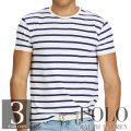 ポロラルフローレン : Standard Fit Cotton T-Shirt [ゆったり/ガーゼコットン/ボーダー/半袖Tシャツ]