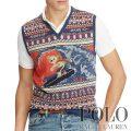 ポロラルフローレン : Surf Bear Cotton-Blend Vest [コットンリネンシルク/サーフィンポロベアー/ニットベスト]