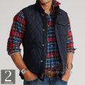 ポロラルフローレン : Water-Repellent Quilted Vest [撥水/ダイアモンドキルト/ジップベスト]