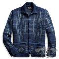RRL/ダブルアールエル : Indigo Workshirt Sweater [インディゴ/バーズアイジャカード/ネイティブ柄/カーディガン]