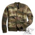 RRL/ダブルアールエル : Camouflage Wool Cardigan [メリノウール/バーズアイジャカード/迷彩/カーディガン]