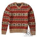RRL/ダブルアールエル : Wool-Blend V-Neck Pullover [7ゲージウールブレンドニット/フェアアイル/Vネック]