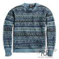 RRL/ダブルアールエル : Indigo Military Cotton Sweater [ミリタリーフェアアイル/セーター]
