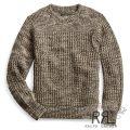 RRL/ダブルアールエル : Cotton Crewneck Sweater [スリム/コットン/リブニットヨーク/セーター]