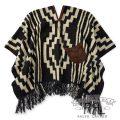 RRL/ダブルアールエル : Leather-Trim Wool Poncho [ジャガードウール/ウエスタン風/ポンチョ]