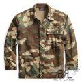 RRL/ダブルアールエル : Camo-Print Jersey Overshirt [コットンヘリンボーンジャージー/迷彩/シャツジャケット]