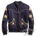 RRL/ダブルアールエル : Reversible Western Tour Jacket [インディゴツイル/フローラル刺繍/リバーシブル/スカジャン]