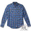RRL/ダブルアールエル : Plaid Cotton Western Shirt [チェック/ウエスタン/長袖シャツ]