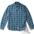 RRL/ダブルアールエル : Plaid Cotton Twill Workshirt [チェック/ミディアムウエイト/長袖シャツ]