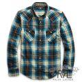 RRL/ダブルアールエル : Buffalo Cotton Western Shirt [起毛コットンツイル/長袖ウエスタンシャツ]