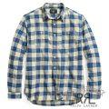 RRL/ダブルアールエル : Plaid Cotton-Linen Workshirt [コットンリネン混/インディゴ/長袖ワークシャツ]