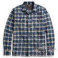 RRL/ダブルアールエル : Plaid Cotton Overshirt [インディゴ/起毛コットン/長袖シャツジャケット]
