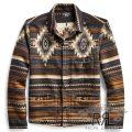 RRL/ダブルアールエル : Cotton-Wool-Jacquard Overshirt [コットンウール/セラーペネイティブ柄/シャツジャケット]