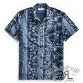 RRL/ダブルアールエル : Indigo Cotton Camp Shirt [コットンジャージー/ハイビスカス/半袖シャツ]