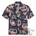 RRL/ダブルアールエル : Tropical-Print Camp Shirt [レーヨン/タトゥーアート/半袖シャツ]