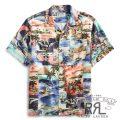RRL/ダブルアールエル : Print Camp Shirt [パッチワーク風/ハワイアン/半袖開襟シャツ]