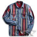 RRL/ダブルアールエル : Indigo Jacquard Overshirt [インディゴ/ジャカード/ネイティブ柄/長袖オーバーシャツ]