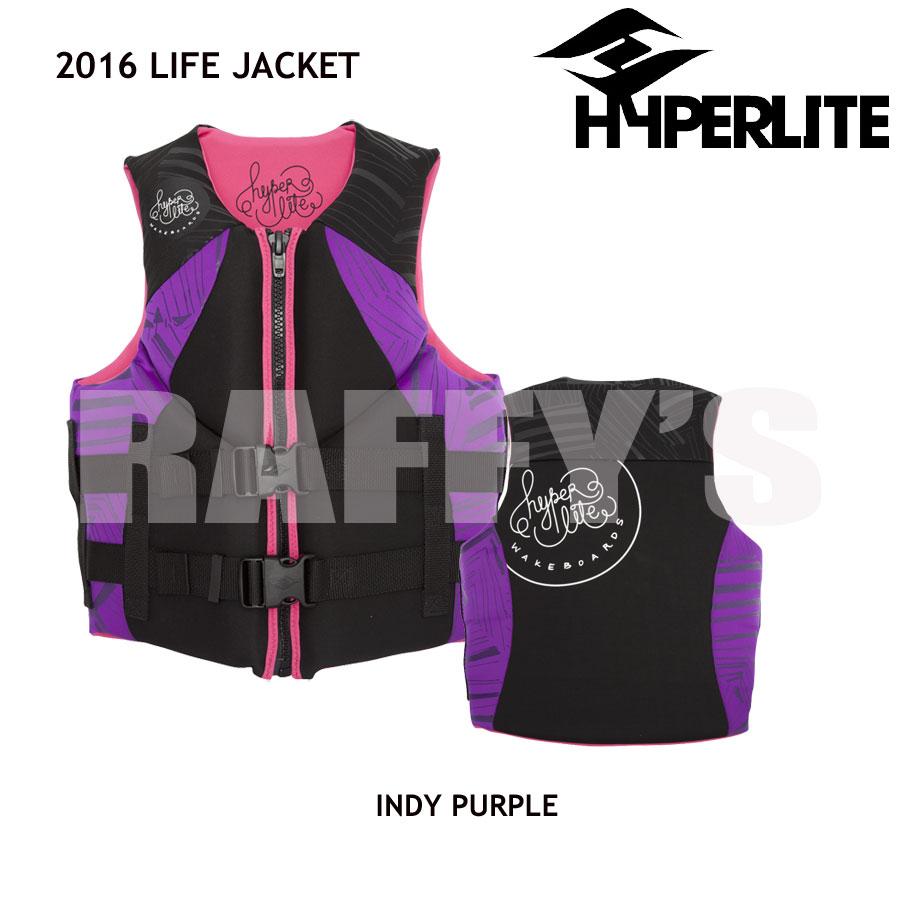 HYPERLITE ハイパーライト 2016 ウェイクボード レディース ライフジャケット INDY NEO VEST PURPLE/PINK