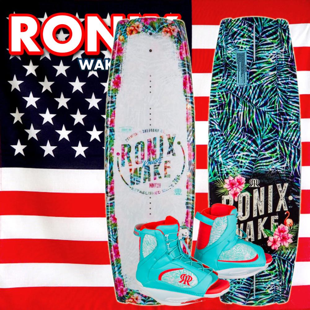 RONIX ロニックス 2016 ウェイクボード レディース セット Krush 128cm+Luxe Boot US:6-8.5