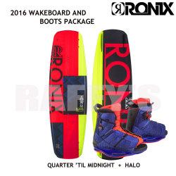 RONIX ロニックス 2016 ウェイクボード レディース セット Quarter 'Til Midnight 130cm+Halo Boot US:6-8.5