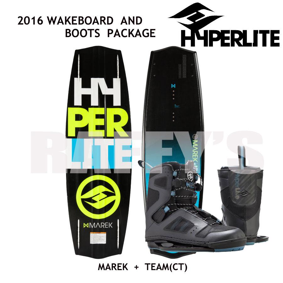 HYPERLITE ハイパーライト 2016 ウェイクボード セット Marek 135cm+Team CT US:9-10
