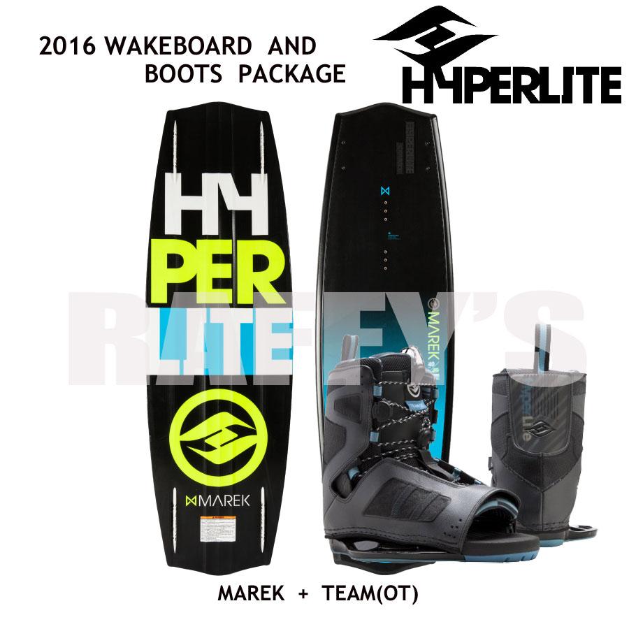 HYPERLITE ハイパーライト 2016 ウェイクボード セット Marek 140cm+Team OT US:7-10.5