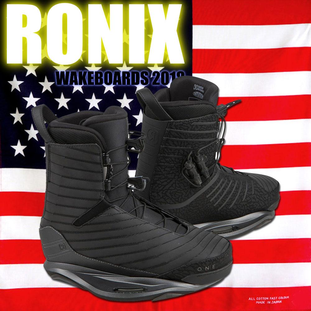 ロニックス RONIX 2018 ウェイクボード ワン ブーツ FLASH BLACK One Boot