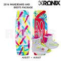 RONIX ロニックス 2016 ウェイクボード 子供用セット August 120cm+August Boot US2-6