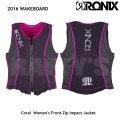 RONIX ロニックス 2016 Coral Women's Front Zip Impact Jacket レディース ライフジャケット ベスト
