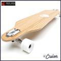 WHITE WAVE ロング スケートボード CRUISER 41インチ ホワイト ウェーブ ロンスケ コンプリート