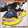 スノー・エアーチューブ 雪遊び 雪そり スノーボート SPORTSSTUFF DOUBLE AMERISPORT Snow Tube 手動ポンプ付