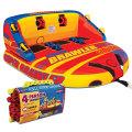 トーイングチューブ ロープ付き 3人乗り グラディエーター スーパー ブロォール Super  Brawler スーパーマーブル 同等品 バナナボート